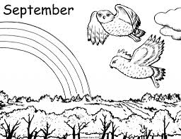 attractive design september coloring pages september to download