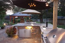 Ideas For Outdoor Kitchen Inspiring Outdoor Kitchen Lighting For Home Decorating Inspiration