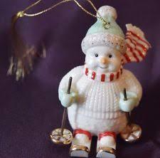 lenox skiing snowman ornament tree ornament ebay