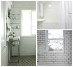 White Subway Tile Bathroom Ideas Subway Tile Bathroom Floor And Wall Contrasting Patterns White