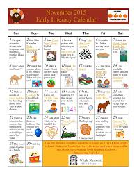 thanksgiving youth games november early literacy calendar wright public library