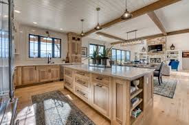 wire brushed white oak kitchen cabinets reclaimed wide wood plank flooring treasure state series