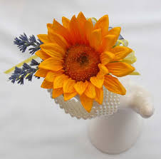artificial sunflower and lavender flower wrist corsage sarah u0027s