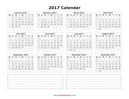 2017 yearly calendar excel calendar monthly printable