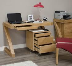 Narrow Computer Desk With Hutch by Z Shape Solid Oak Small Computer Desk Oak Furniture Uk