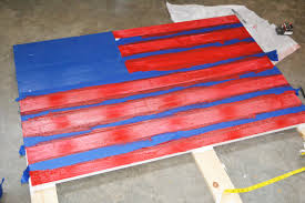 Flag With Four Red Stars D I Y Distressed Wooden American Flag