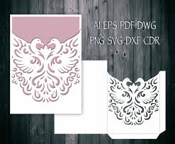 wedding invitation pocket envelopes swan wedding invitation pocket envelope 5x7