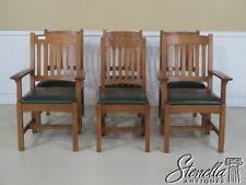 Mission Style Dining Room Sets by Arts U0026 Crafts Mission Style Dining Room Chairs Ebay