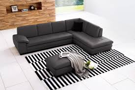 Gray Leather Sectional Sofas 625 Pillow Back Italian Top Grain Leather Sectional Sofa Ottoman