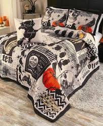 cute skeleton trick or treating halloween comforter set from