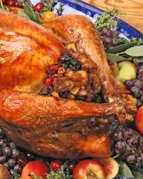 37 cooks roast turkey with turkey with fruit and nut stuffing