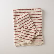 Waffle Weave Kitchen Towels Waffle Stripe Towels Red Schoolhouse Electric