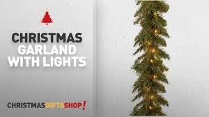 top garland with lights ideas national tree 9 foot by