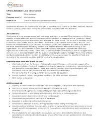 Personal Assistant Job Description For Resume by Personal Assistant Job Description For Resume Free Resume