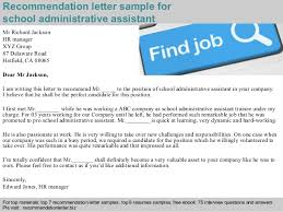 brilliant ideas of reference letter for secretary in resume