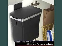 simplehuman in cabinet trash can trash container cabinet picture collection youtube