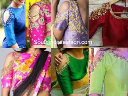 trend cold shoulder saree blouse designs south india fashion