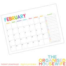 free 2015 monthly calendar pages with to do list the organised