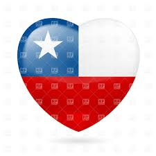 Cile Flag Heart With Chilean Flag Colors I Love Chile Royalty Free Vector