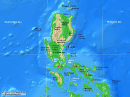 Physical Map Of Southeast Asia by Philippines Luzon Physical Map A Learning Family