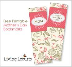 mother u0027s day bookmark free printables