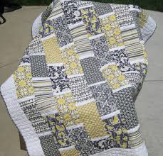 Grey And Yellow Comforters Yellow And Gray U201cbrick U201d Quilt U2013 Material Quilts
