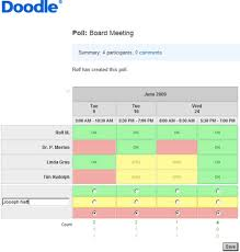 doodle pool stop scheduling via email try doodle eduleadership