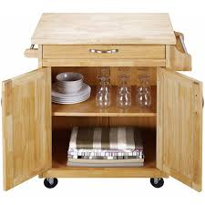 natural wood kitchen island mainstays kitchen island cart multiple finishes walmart com
