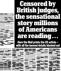 blacked out friday the mail prints story over love cheat scandal with all banned