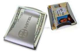 metal money clip with credit card or gift card holder wholesale