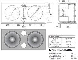 12 Inch Bass Cabinet Speaker Plans