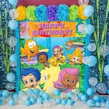 Bubble Guppies Birthday Decorations Birthday Party Backdrop With Streamers Coloring Parties