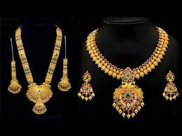 golden necklace new design images Gold necklace designs new la necklace jpg