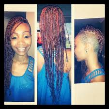 half shaved with braids shaved sides with box braids hair 2d5ab62da29700625270e058c5850d00