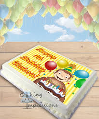 curious george cake topper curious george edible image sheet cake topper