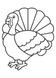 coloring pages turkey outline printable thanksgiving turkey