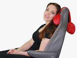 adjustable neck pillow hangs over your seat for head neck or