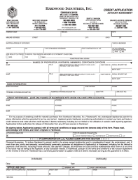 business credit application form template free fillable