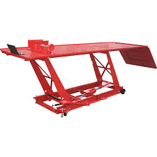 scissor lift table harbor freight 1000 lb steel motorcycle lift