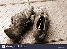 dirty pair dirty pair of football boots stock photo royalty free image