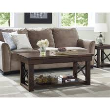 altra furniture wildwood mahogany storage coffee table 5056196com