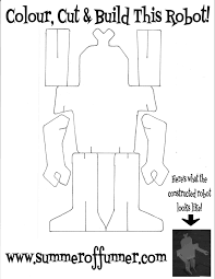 colour cut u0026 build this robot free printable summer of funner