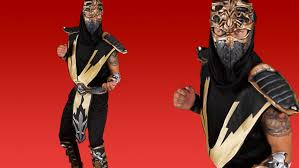 Halloween Costume Kids Mortal Kombat Scorpion Costume