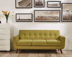 Modern Tufted Leather Sofa by Living Room Brown Mid Century Modern Sectional Chesterfield