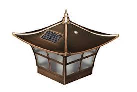 4x4 solar post lights amazon com classy caps sl094 4x4 ambience solar post cap 2 pack