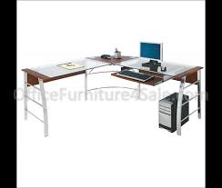 Office Desks L Shape by Curved Office Desk Office Throughout Glass Desk L Shape Eyyc17 Com