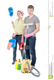 couple cleaning the house stock image image 30686001