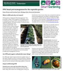 ipm smart pest management for the vegetable garden msu extension