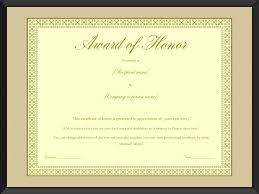 sle certificate of recognition template certificate of honorary template