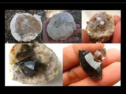 how to find geodes smoky quartz crystals liz kreate youtube